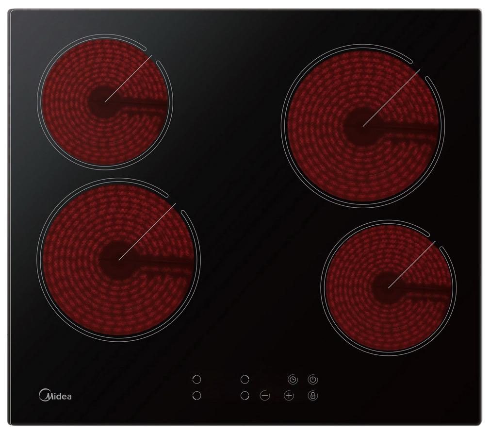 Встраиваемая варочная панель электрическая Midea MCH64160 Black фото
