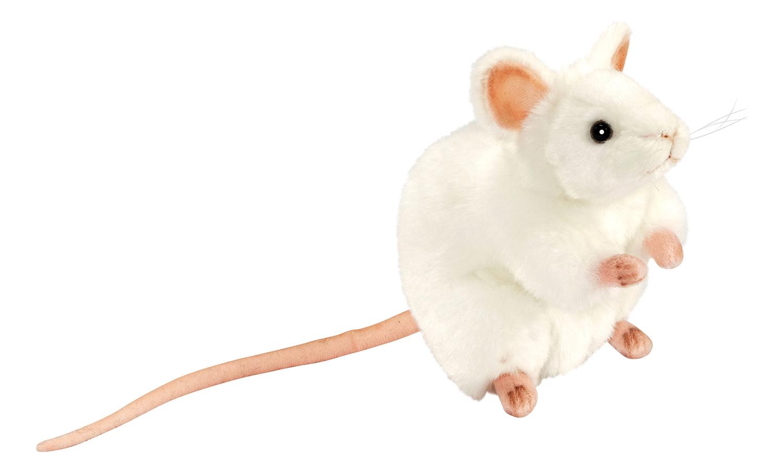 Купить Белая мышь, Мягкая игрушка Hansa Мышь Белая Мышь 16 см белый 5323, Новогодние мягкие игрушки
