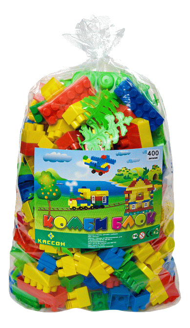 Купить Конструктор пластиковый Кассон Комби блок 400 элементов, Конструкторы пластмассовые