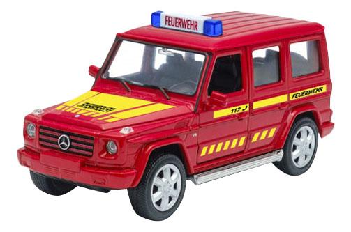 Коллекционная модель Mercedes-Benz G-CLASS Пожарная Welly 39889GF