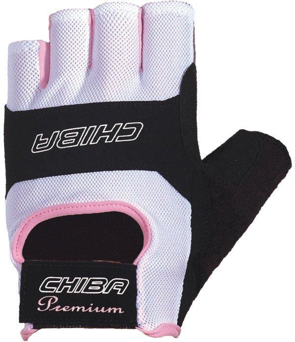 Перчатки для фитнеса и тяжелой атлетики Chiba Lady Sport черно-белые M