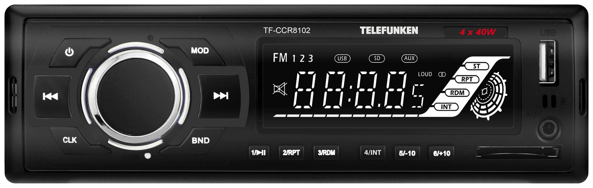 Автомобильная магнитола Telefunken TF-CCR8102 4x40Вт