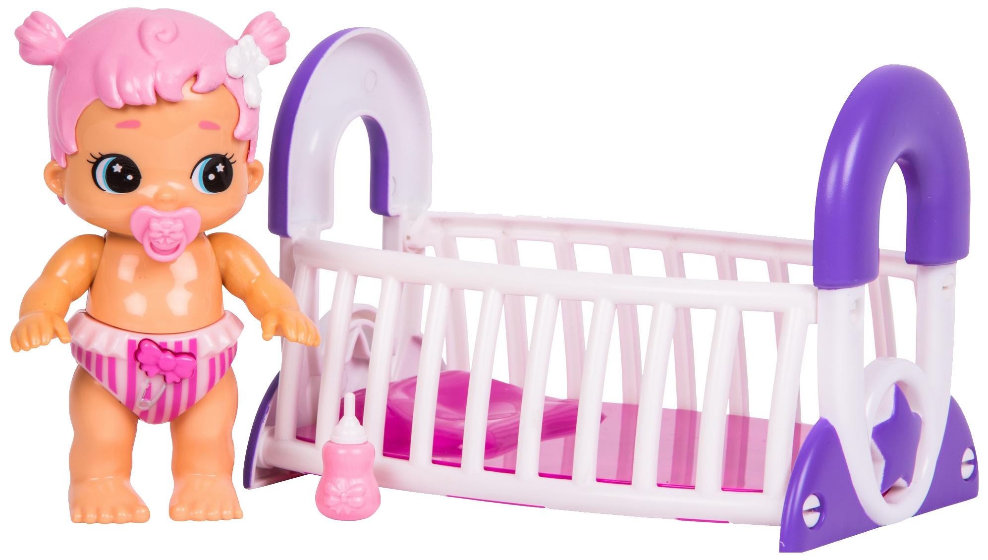 Интерактивная игрушка Little Live Pets Moose Bizzy Bubs Грейси с кроваткой 28475