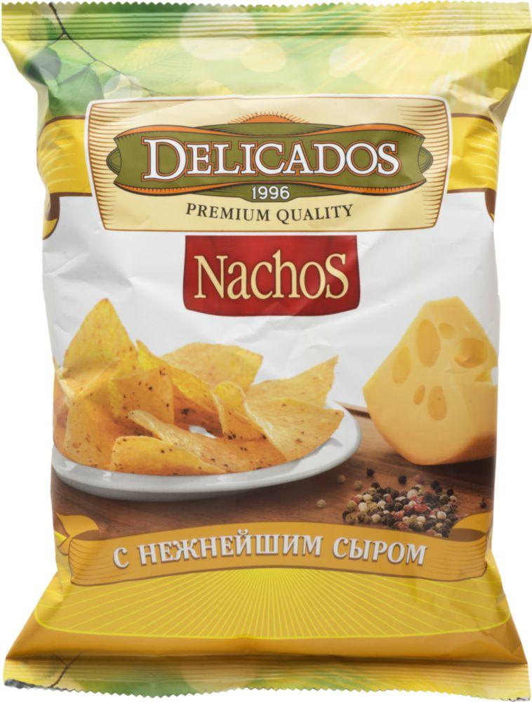 Чипсы кукурузные Delicados nachos с нежнейшим сыром 150 г
