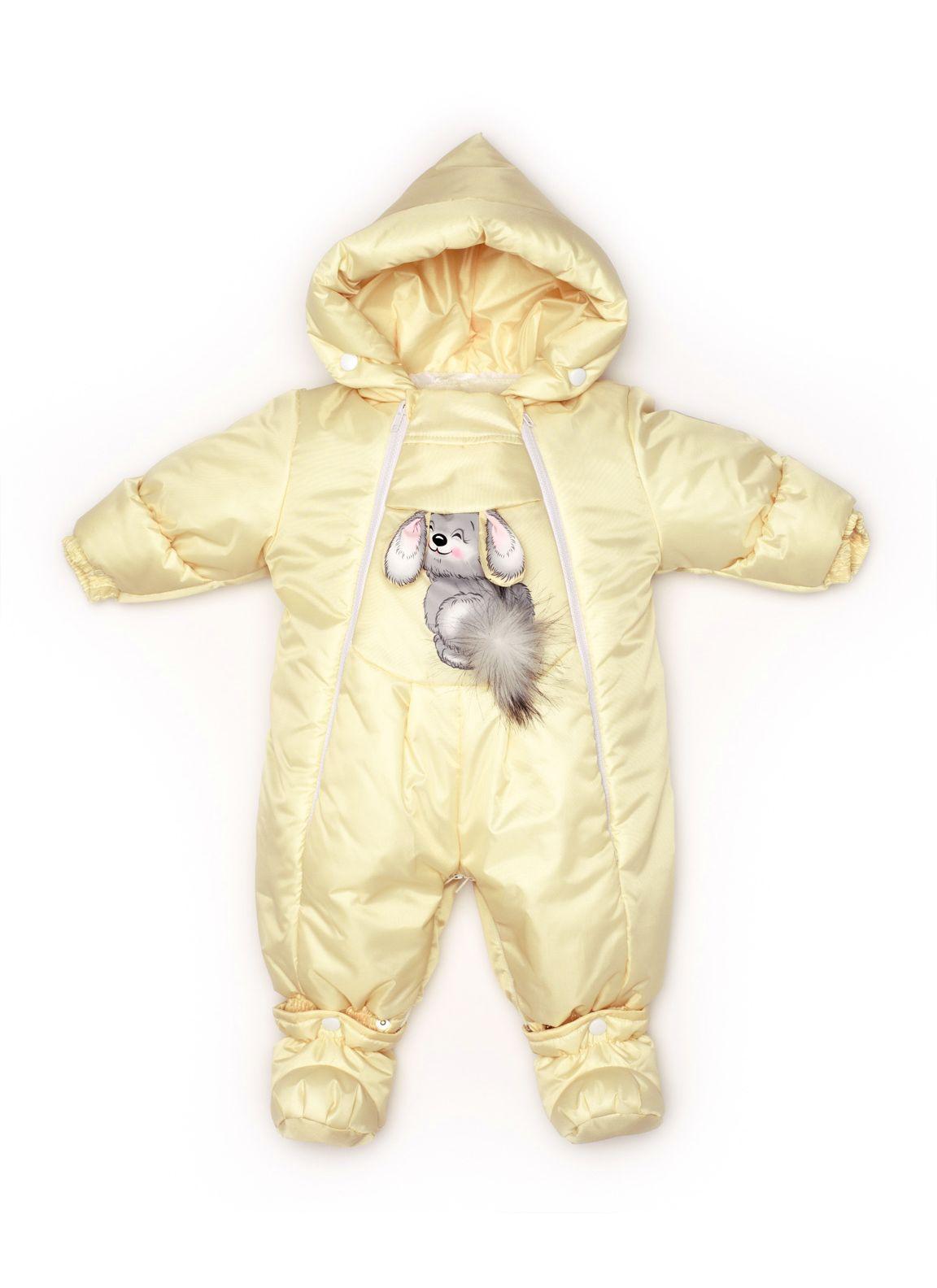 Комбинезон-трансформер конверт Malek-Baby Зима Светло-желтый