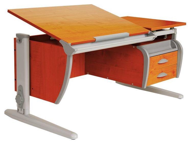 Парта Дэми СУТ 17-04Д с задней и двухъярусной задней приставками Серый 120 см