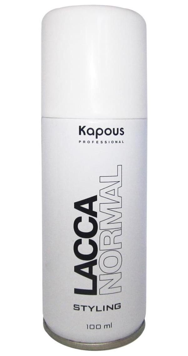 Купить Лак аэрозольный для волос Kapous Professional нормальной фиксации, 100 мл, Lacca Normal
