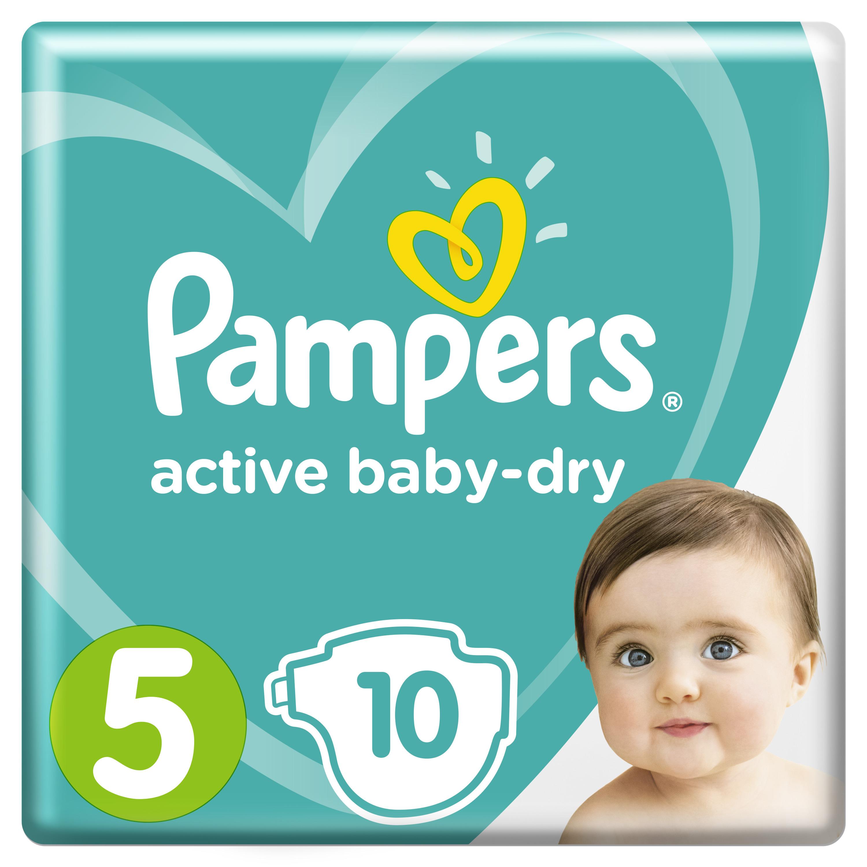 Купить Подгузники Pampers Active Baby-Dry Junior (11-16 кг) Micro 10 шт.,