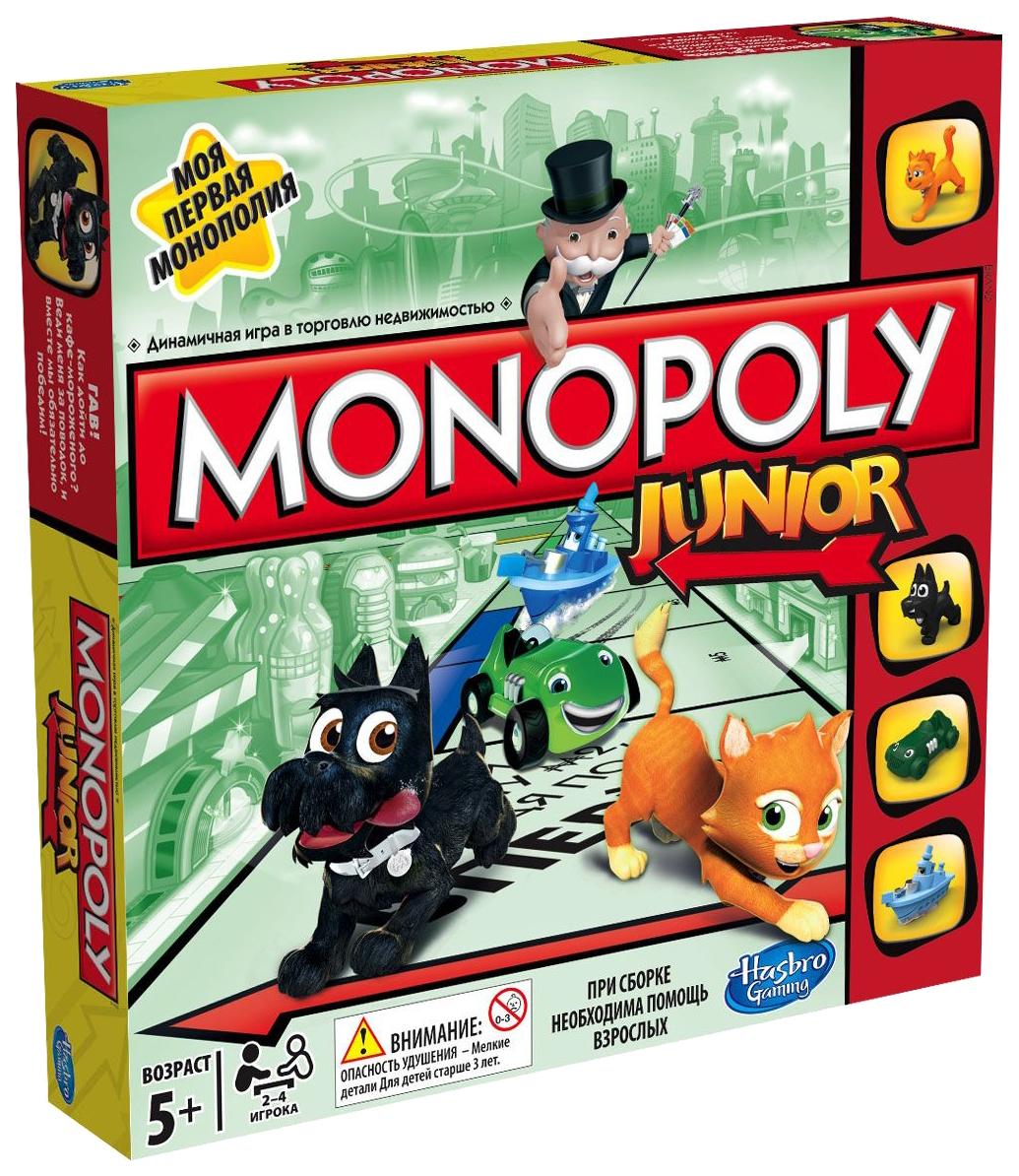 Экономическая настольная игра HASBRO Моя первая Monopoly