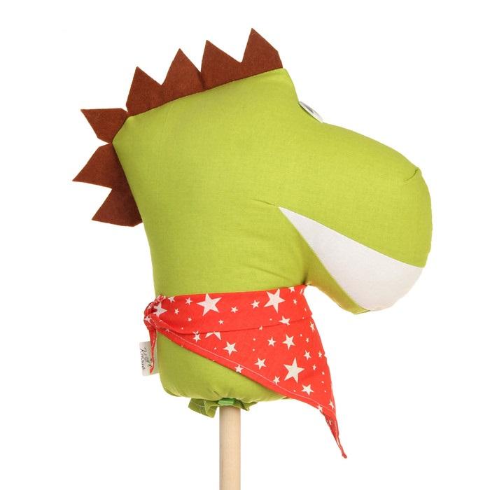 Лошадка скакалка на палочке динозавр зубастик коняша