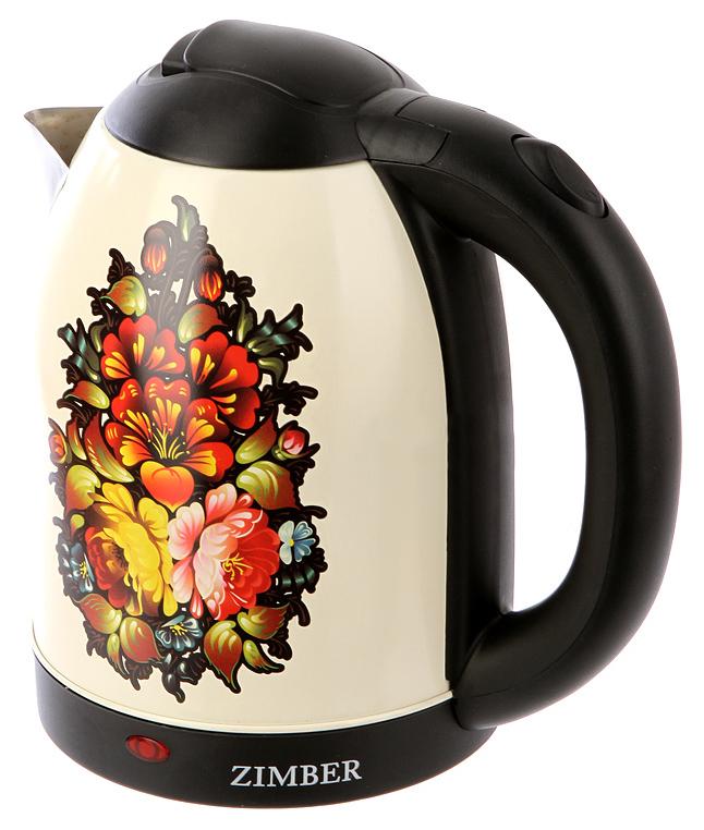 Чайник электрический Zimber ZM-11219 Black/Beige