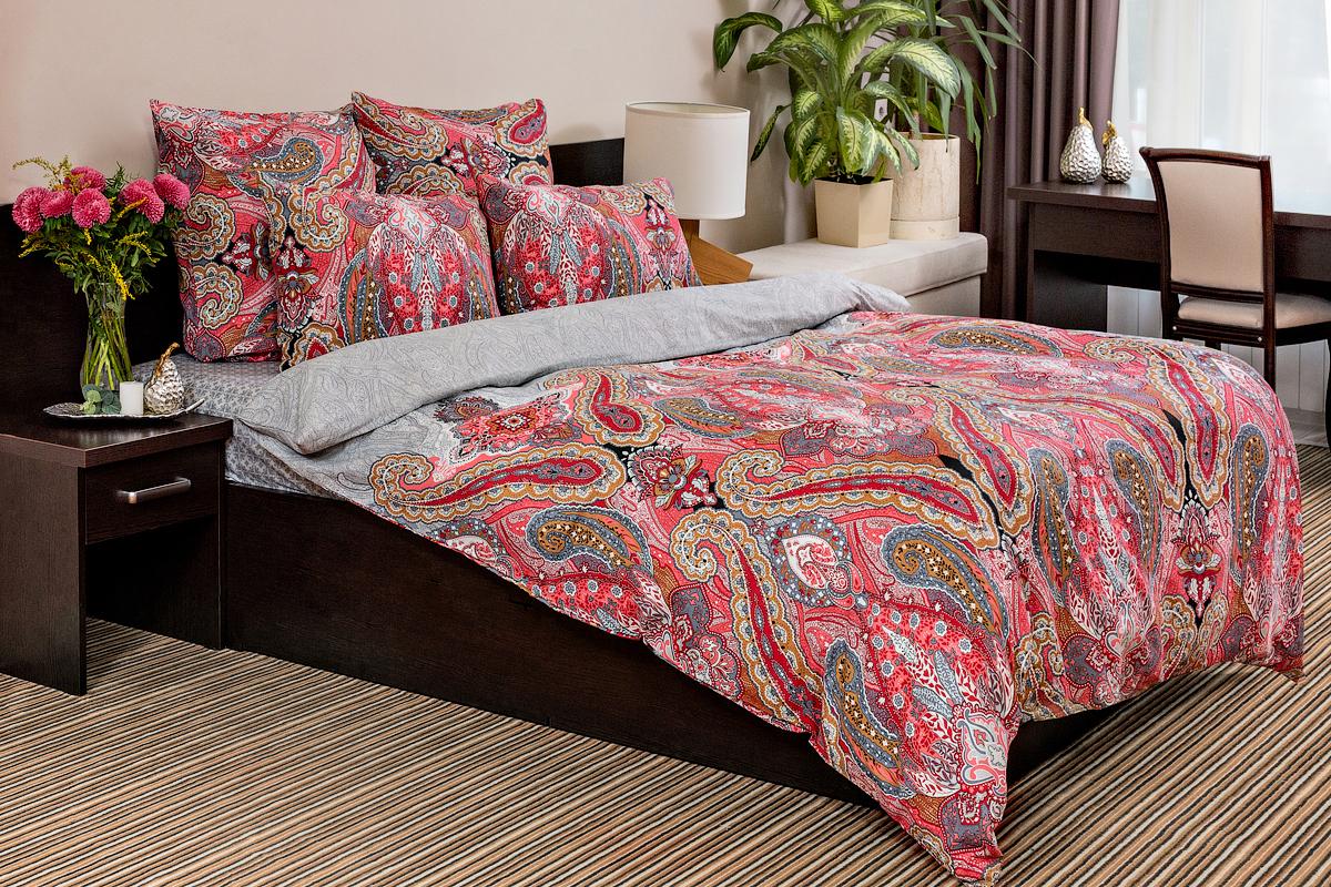 Постельное белье Ночь Нежна Karmen Цвет: Красный (2 спальное евро)