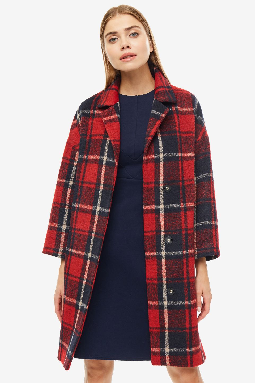 Пальто женское SELVAGGIO красное