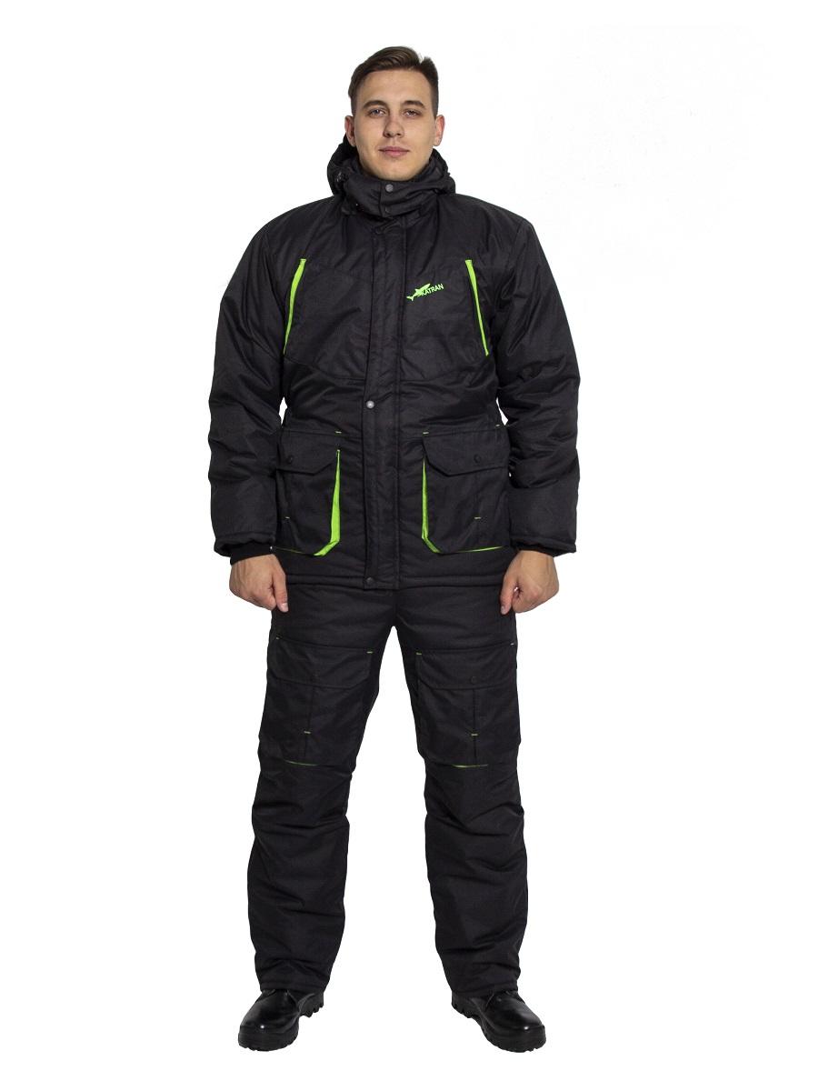 Зимний костюм для охоты и рыбалки KATRAN Берген -40C Таслан, Черный, 56-58/182-188 фото