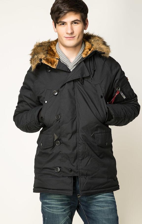 Куртка мужская Alpha Industries 193128 черная 2XL
