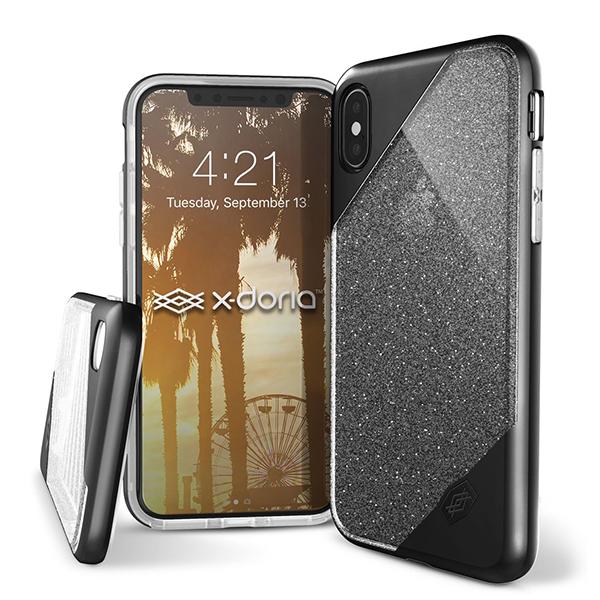 Чехол X-Doria Revel Lux для Apple iPhone X Black Glitter