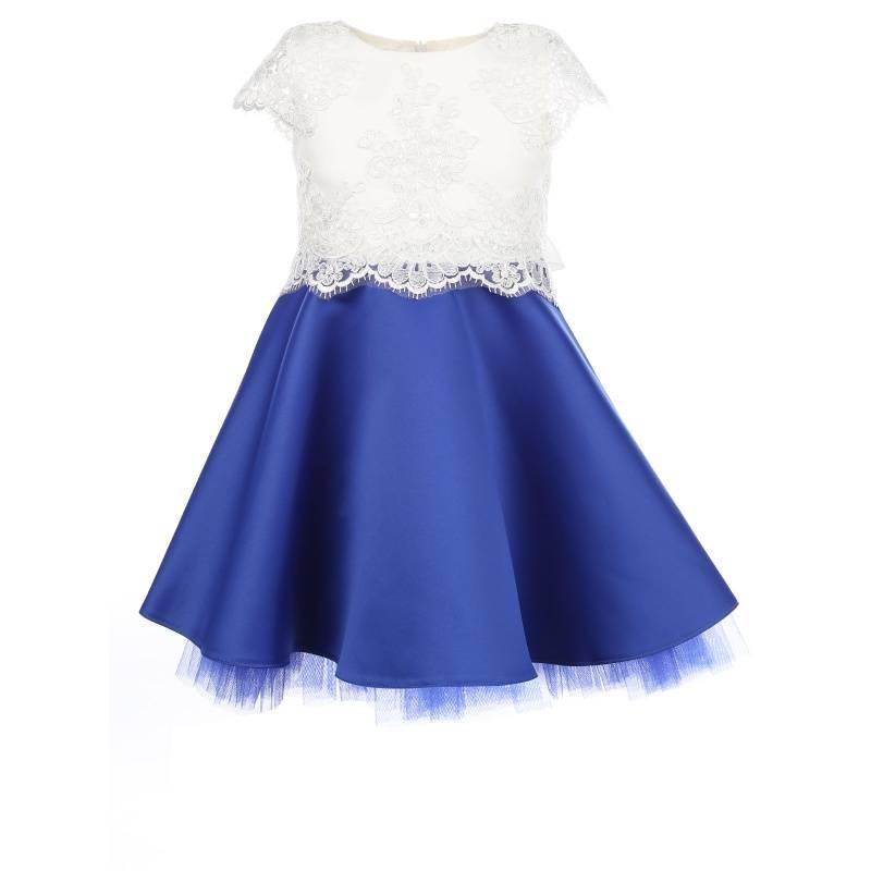 Купить 1447, Платье Прима-балерина UNONA D'ART, цв. белый, 128 р-р, Платья для девочек