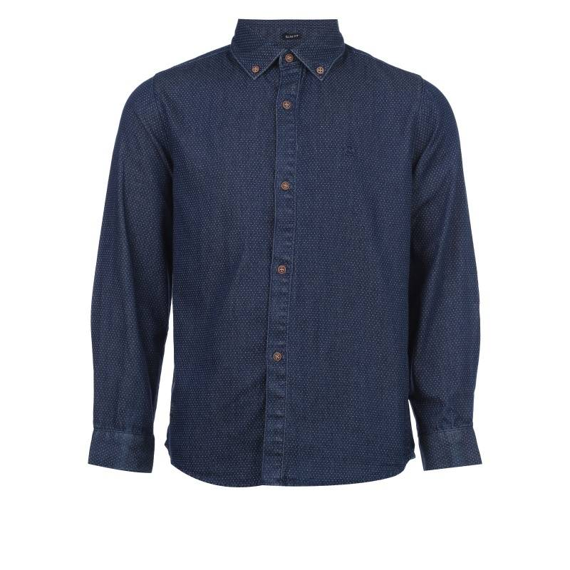 Купить 7.142/68, Рубашка MAYORAL, цв. темно-синий, 128 р-р, Детские блузки, рубашки, туники