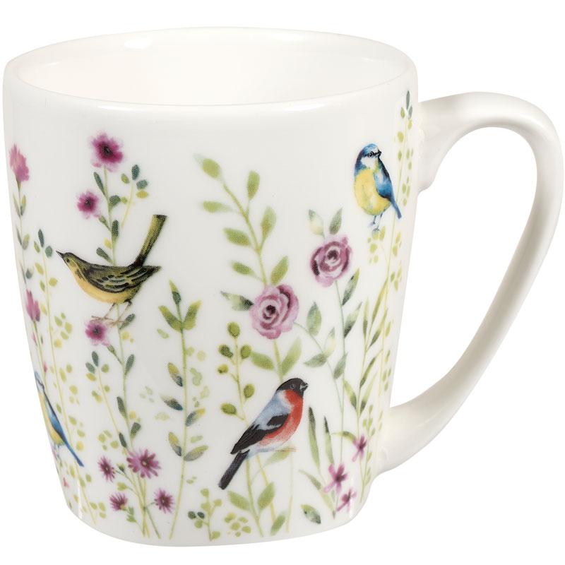 Кружка Птицы 300мл Churchill Акварель, цвет розовый фото