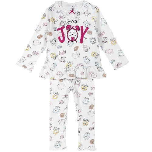 Купить Пижама Chicco Sweet Joy для девочек р.116 цв.бежевый, Детские пижамы