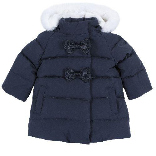 Купить 9087428, Куртка Chicco для девочек р.80 цв.темно-синий, Куртки для девочек