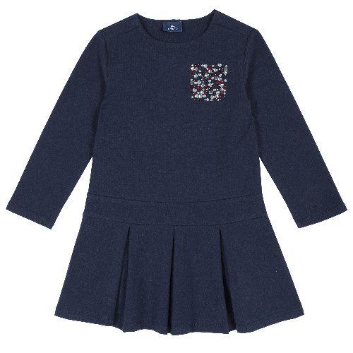 Купить 9003568, Платье детское Chicco длинный рукав р. 110 цв.темно-синий,