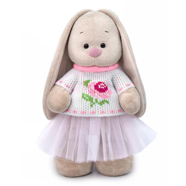 Купить Мягкая игрушка BUDI BASA StM-288 Зайка Ми в жаккардовом свитере и юбке 32см, Мягкие игрушки животные