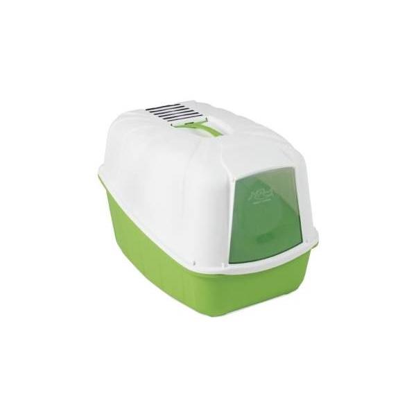 Туалет для кошек MPS Komoda, прямоугольный, зеленый, белый, 54х39х40 см