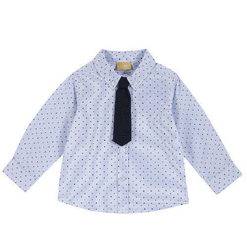 Рубашка Chicco для мальчиков, размер 104, цвет синий