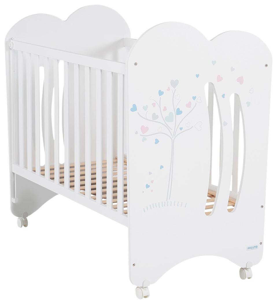 Кровать Micuna Aura (Микуна Аура) 120*60 white, Классические кроватки  - купить со скидкой
