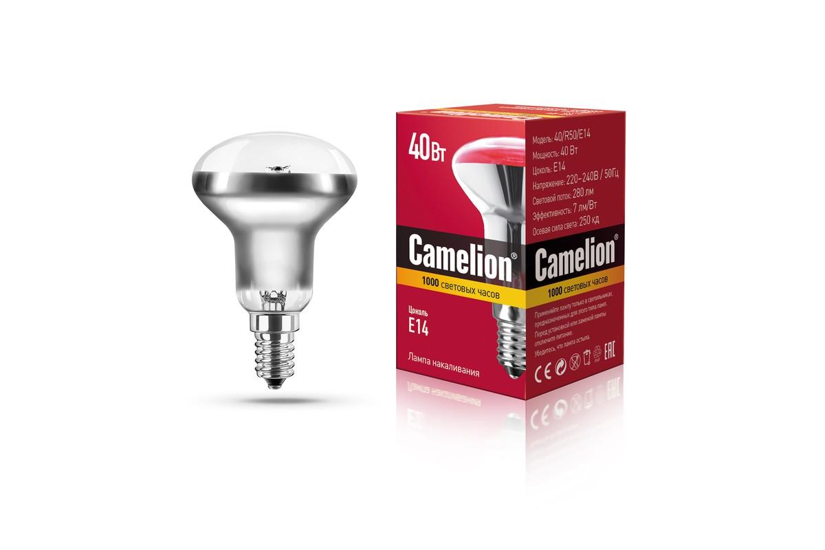 Лампа накаливания Camelion зеркальная 40W R50 E14