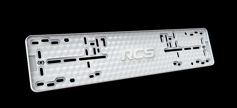 Пластиковая рамка номерного знака RCS Light белая