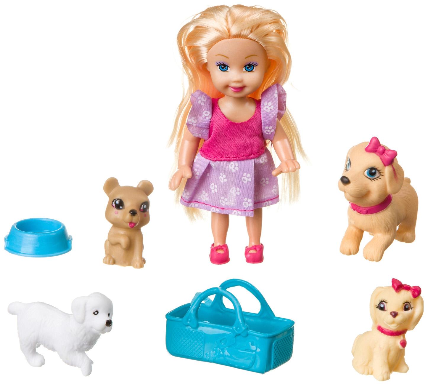 Купить Набор игровой bondibon куколка oly с собачками арт. k899-32., Классические куклы
