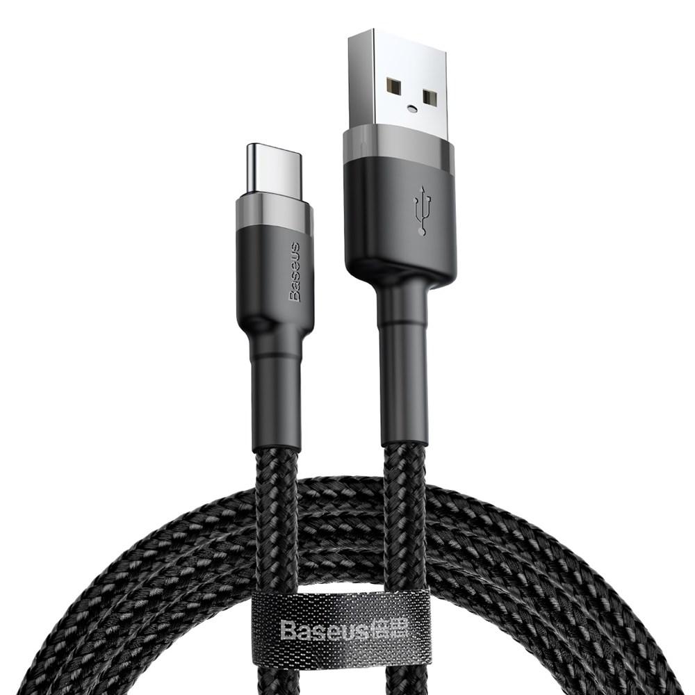 Кабель Baseus Cafule USB - Type-C 2А 3м Black/Grey (CATKLF-UG1)
