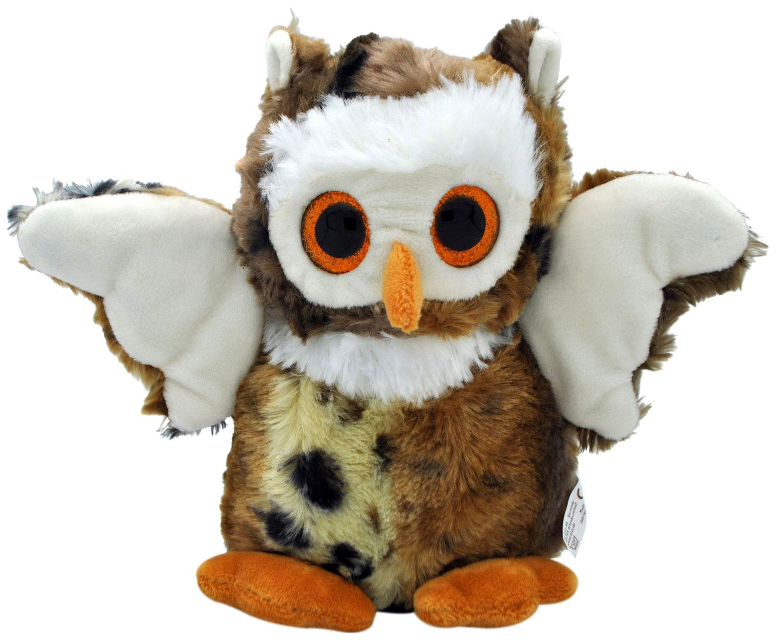 Купить Мягкая игрушка АБВГДейка Сова глазастая темная, 20 см, Мягкие игрушки птицы