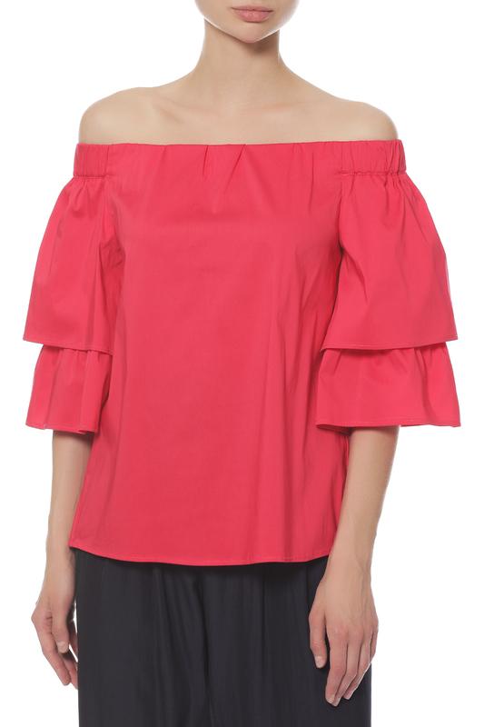 Блуза женская ANNA RITA N E18313PO055/522 красная 40 IT фото