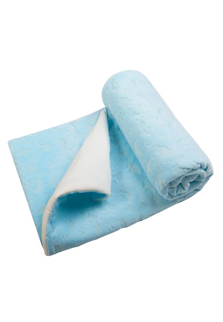 Купить Плед Сонный гномик Топ-топ голубой,