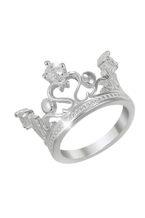 Кольцо женское ViviTrend Корона 53114 серебристое фото