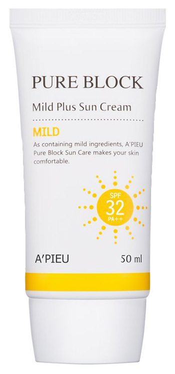 Солнцезащитное средство A\'pieu Pure Block Natural Mild Plus Sun Cream SPF 32 50 мл