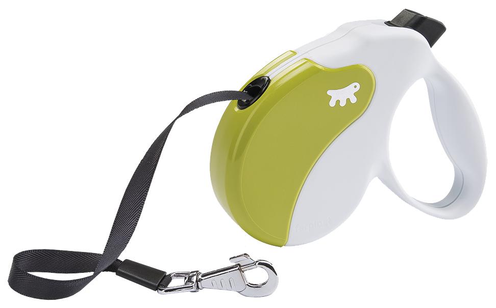 Поводок-рулетка Ferplast Amigo Tape 500см белый, зеленый