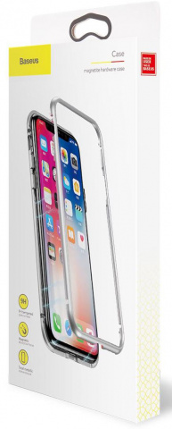 Чехол Baseus Magnetite Hardware (WIAPIPH65-CS0S) для iPhone Xs Max (Silver)