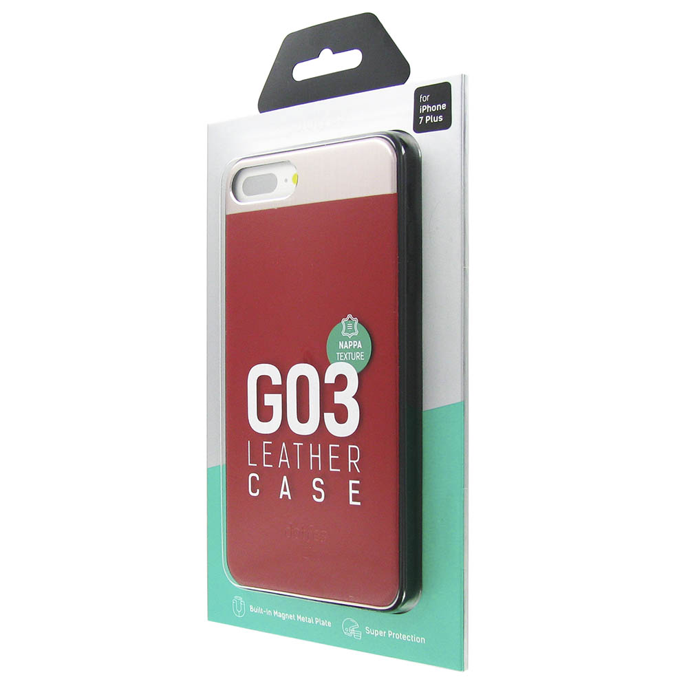 Чехол Dotfes G03 Aluminium Alloy Nappa leather Case для iPhone 7 Plus/8 Plus (red)