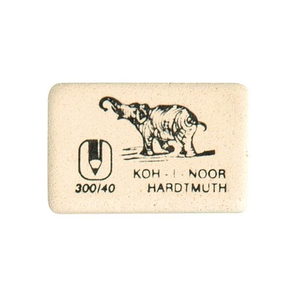 Ластик KOH-I-NOOR 300/40 каучук 35х28х8 мм белый, арт, 300/40
