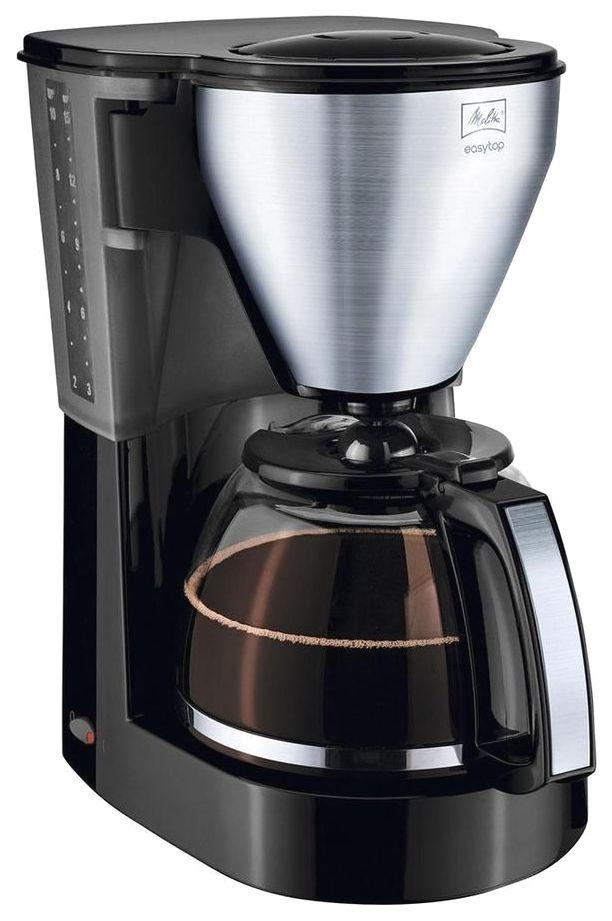 Кофеварка капельного типа Melitta Easytop Steel Black/Silver