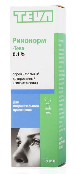 Ринонорм спрей назальный для взрослых 0,1% 20 мл