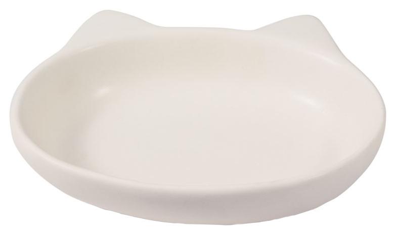Одинарная миска для кошек Triol, керамика, белый,