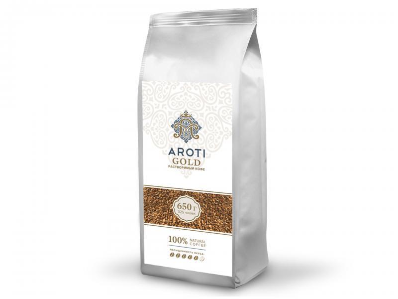 Кофе растворимый Aroti gold cублимированный натуральный 650 г