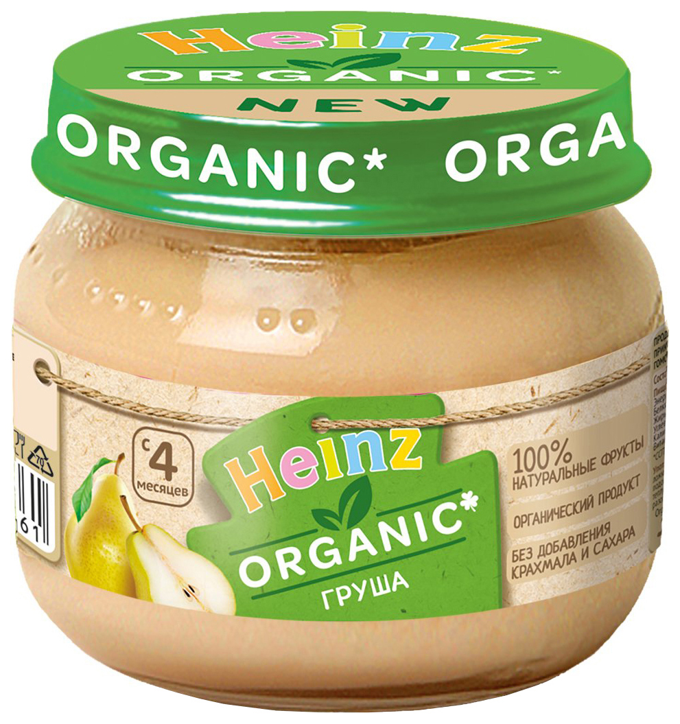 Пюре фруктовое Heinz Organic Груша с 4 мес. 80 г