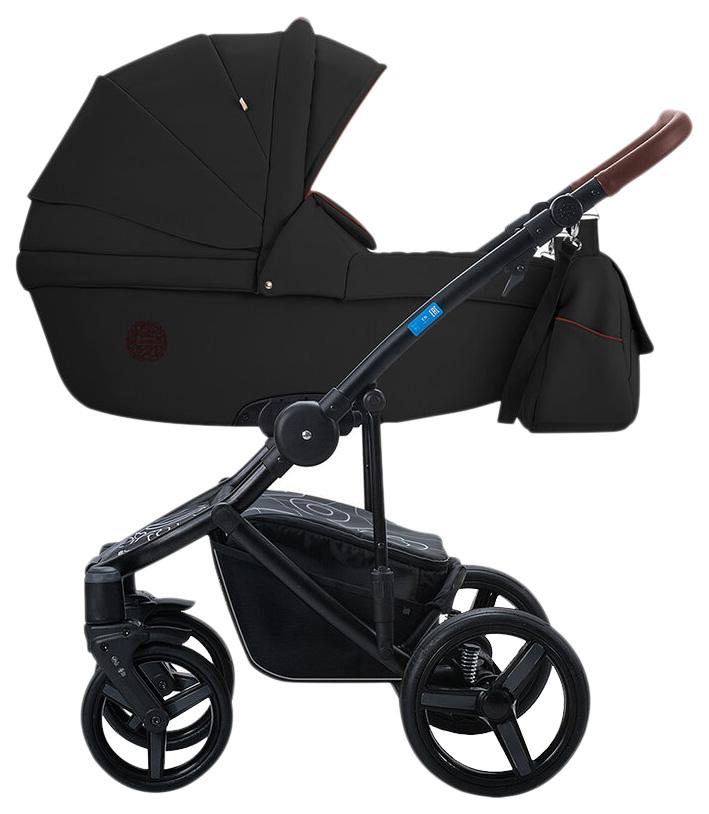 Купить Коляска 2 в 1 AroTeam Bartolo Prima Черная кожа УТ0010325, Детские коляски 2 в 1