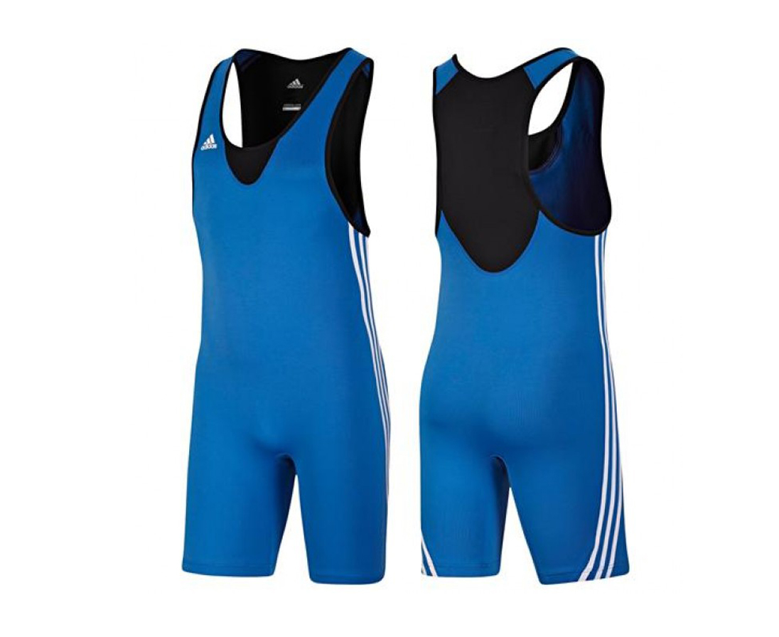 Трико борцовское Adidas Base Wrestler синее XS
